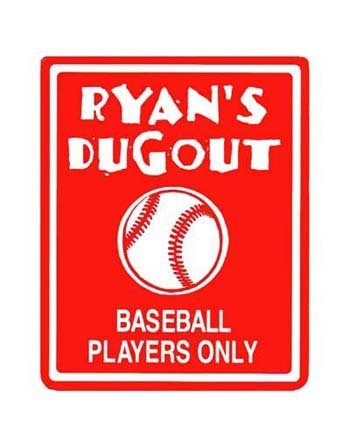 BASEBALL Red Bedroom Door SIGN Personalized Bedroom Decorating Ideas